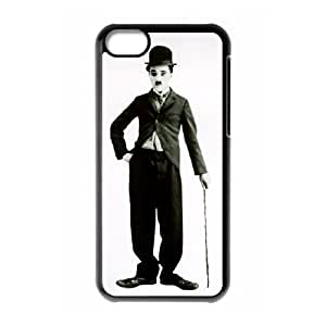 Charles Chaplin iPhone 5c Cell Phone Case Black TPU Phone Case SV_302548
