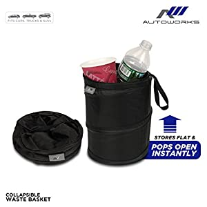 Autoworks collapsible pop up waste basket automotive - Collapsible waste basket ...