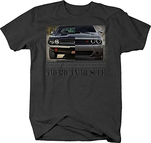 American Muscle Dodge Challenger Modern & Classic Mopar Tshirt - XLarge Classic Muscle Tee