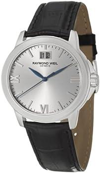 Raymond Weil Black Genuine Leather Men's Watch