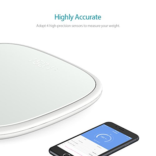 Koogeek Smart Body Scale Bluetooth 4.0 Digital Body Weight Scale & Body Composition Monitor with Fitness App, Baby Weighing, 16 Users Recognition
