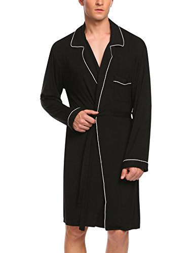 Untlet Bathrobe Mens Cotton Spa Robes Lightweight Bath Robe Lounge Sleepwear