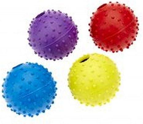 Classic - Pelota de juguete con relieve y cascabel para perros ...