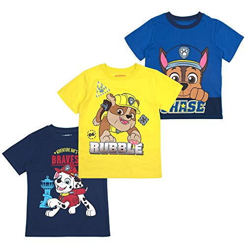 Paw Patrol Boys' T-Shirt (Pack of 3) 3T Blue