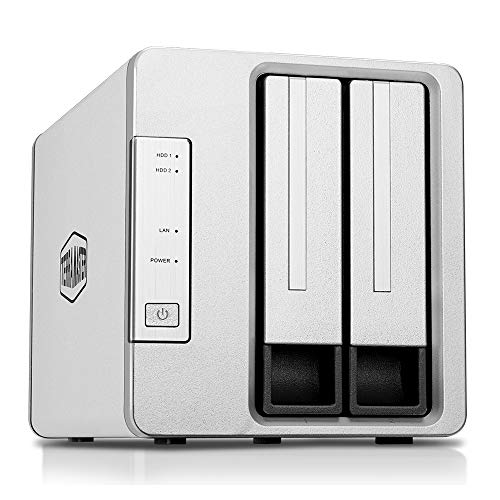 TerraMaster F2-210 2-Bay NAS Quad Core Network Attached Storage Media Server Personal Private Cloud (Diskless)