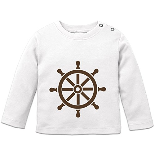56 Steering (Shirtcity Steering Wheel Baby Long Sleeve Shirt 56/62 White)