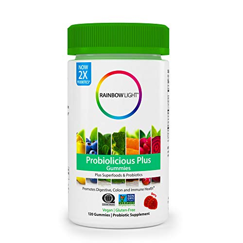 Rainbow Light Probiolicious Plus Gummies Plus Superfoods & Probiotics, Berry - 120 Gummies