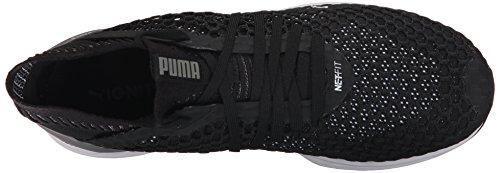 Puma Hombres Ignite Netfit Zapatillas De Entrenamiento Cruzado Puma Negro-silencioso Shade-puma Blanco