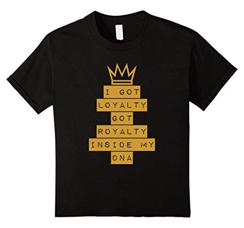 Kids Gold Royalty Hebrew Israelite T Shirt  Judah 12 Tribes Torah 10 Black