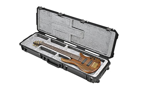 (SKB Injection Molded Electric Bass Case, Open Interior, TSA Latches, with wheels (3i-5014-OP))