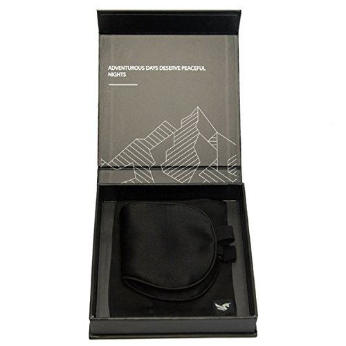 100% Silk Hypoallergenic Sleep Mask with Compact Travel Pouch and Gift Box by Brave Era (Raven Black) by Brave Era (Image #7)