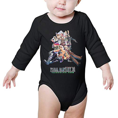 Heart Wolf Newborn Black Clothes Bodysuits Long Sleeve Final-Fantasy-XII-Poster- - Children Advent Psp