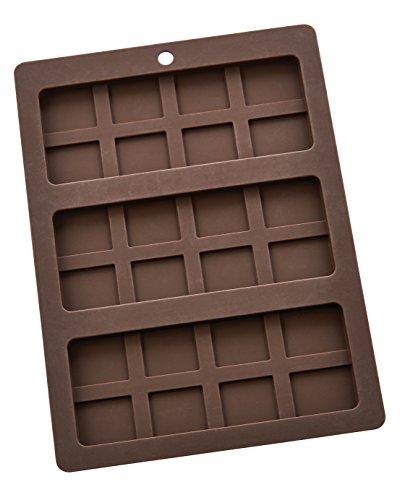 (Mrs. Anderson's Baking Triple Chocolate Bar Mold, Non-Stick European-Grade Silicone, Makes 3 Standard-Sized Chocolate Bars)