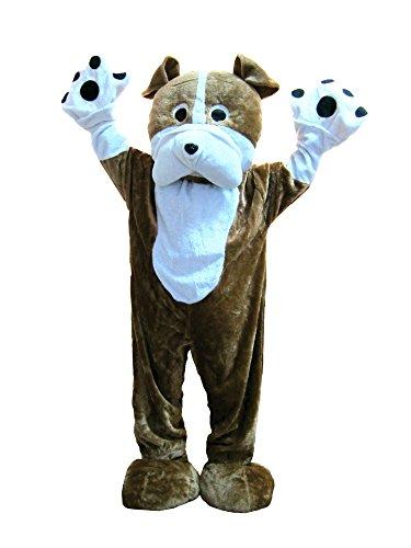Adult Unisex Bulldog Mascot Costume (Bulldog Mascot Costume)