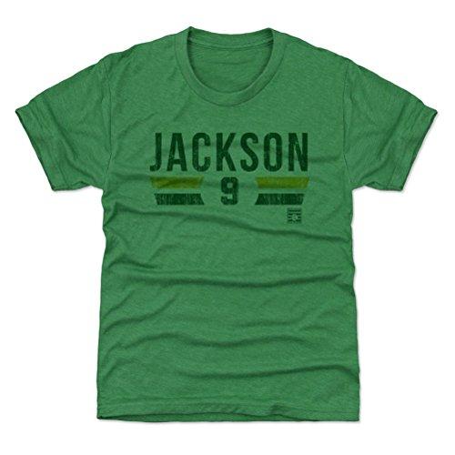 500 LEVEL Oakland Baseball Youth Shirt - Kids X-Small (4-5Y) Heather Kelly Green - Reggie Jackson Font G (Jackson Shirts Reggie)