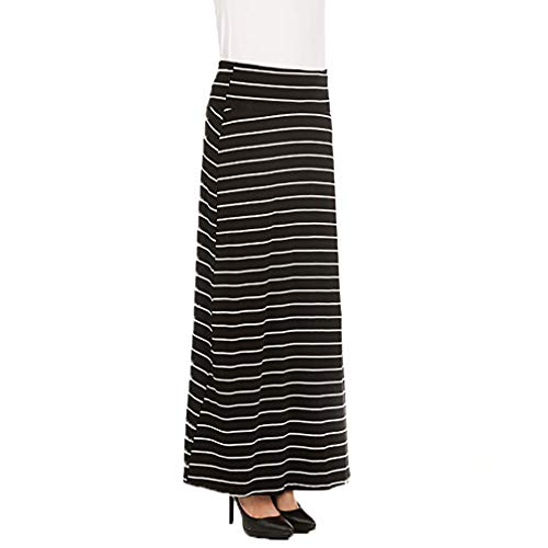 X America Foldover Long Knit Maxi Skirt Junior and Plus Size Maxi Skirts for Women, Made in USA