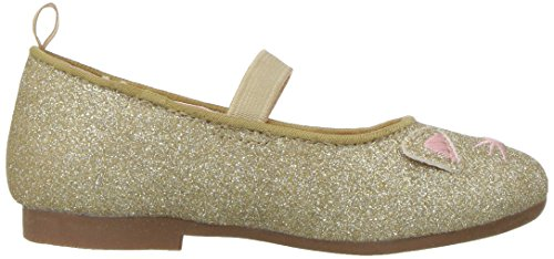 OshKosh B'Gosh Girls' Meow Glitter Cat Ballet Flat, Gold, 7 M US Toddler - Image 7