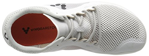 Vivobarefoot Womens Primus Road Sportschoen Wit / Flame Orange