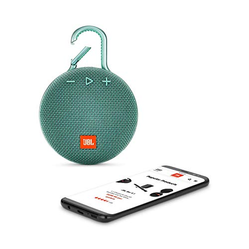 JBL Clip 3 Portable Bluetooth Waterproof Speaker - Teal (Renewed)