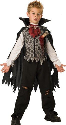 InCharacter Costumes, LLC Boys 2-7 Vampire B. Slayed Cape Set, Black/White, Small (Vampire B Slayed Boys Costume)