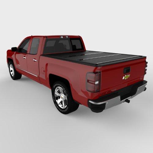 "Undercover Flex Hard Folding Truck Bed Tonneau Cover | FX11019 | Fits 14-18, 19 Ltd/Legacy Chevrolet Silverado/GMC Sierra Legacy/Limited (Only 1500,2500,3500) 6'6"" Bed"