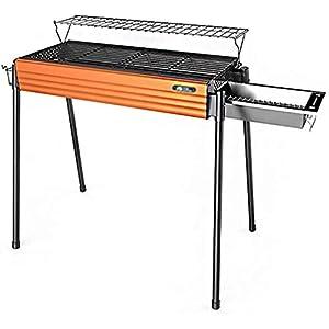 Barbecue portatile per barbecue, per il tempo libero, campeggio, casa, all'aperto, a carbonella, in acciaio inox… 5 spesavip