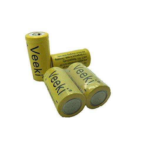Rechargeable Cr123a Battery Veeki Vk Bt16340 Rcr123a 3 7v 700mah Protected Li Ion 16340