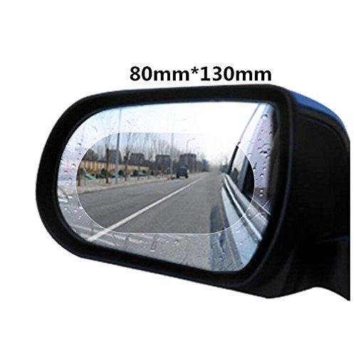 (Smileyyi 2pcs Waterproof Rainproof Anti Fog Film For Car Motorbike Rearview Mirror Rain Proof Screen Film Anti Dazzle PET Transparent Sticker Rain Shield Replacement by)