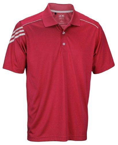 302cdbbabd adidas Athletic Men's Climacool 3-Stripes Polo Shirt (Small, Bright Coral)