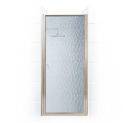 Coastal Shower Doors Paragon Series Framed Continuous Hinge Shower Door With Obscure Glass, 34