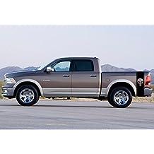 Punisher Truck car vinyl decal, racing stripe sticker logo both sides Racing Stripes Dodge Ram (Black)