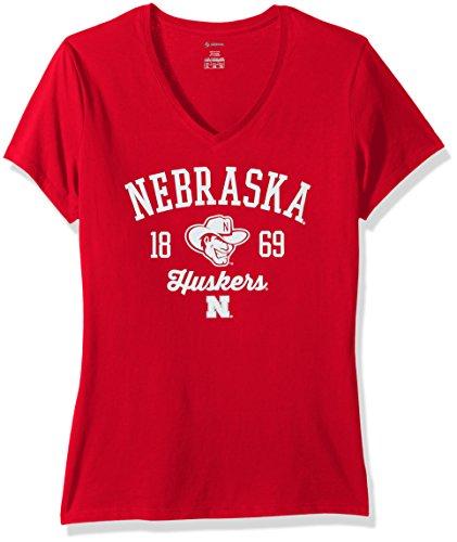 NCAA Nebraska Cornhuskers Women's Core Tee, Small, ()
