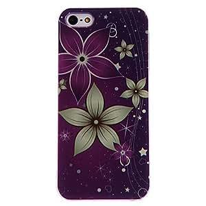 CECT STOCK Cinco pétalos Flores Patrón Hard Case PC con marco transparente para iPhone 5/5S