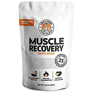 Coach Soak: Muscle Recovery Bath Soak - Natural Magnesium Muscle Relief & Joint Soother - 21 Minerals, Essential Oils & Dead Sea Salt - Absorbs Faster Than Epsom Salt For Soaking (Energizing Citrus) 52