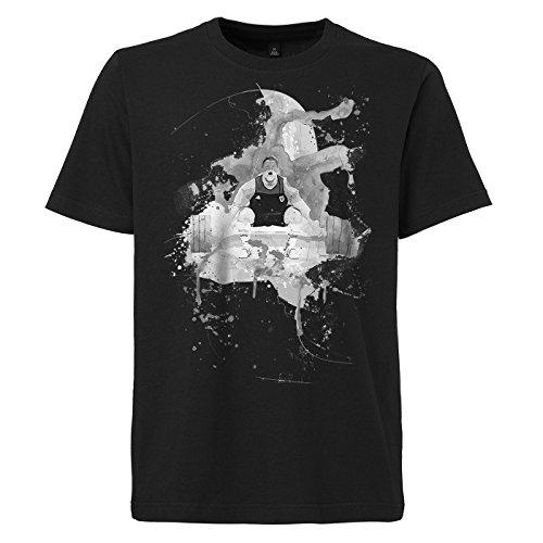 Gewichtheben_II schwarzes modernes Herren T-Shirt mit stylischen Aufdruck