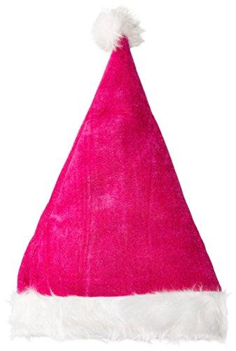 Pink Velvet Santa Hat W/plush Trim (Plush Velvet Santa Hat)