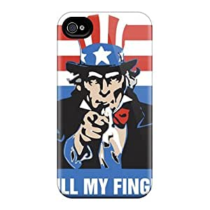 Faddish Phone Uncle Same Finger Case For Iphone 4/4s / Perfect Case Cover
