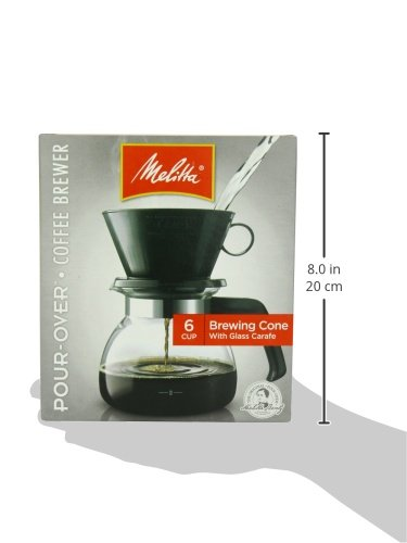 Melitta Coffee Maker, 6 Cup Pour-Over Brewer with Glass Carafe, 1-Count New 55437640442 eBay