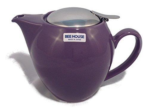 BEEHOUSE Teapot Rnd Large Eggplant, 1 EA ()