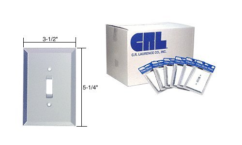 CRL Clear Mirror Glass Single Toggle Switch Mirror Plates in Bulk Pack Pack of 100 by CR Laurence by CR Laurence