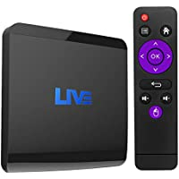 IPTV International Android Receiver Support 4K (60Hz) Full HD/H.265/2.4G WiFi, with 1500+ Global Channels Including North American European Asian BSport Arabic Brazil (2GB+16GB)