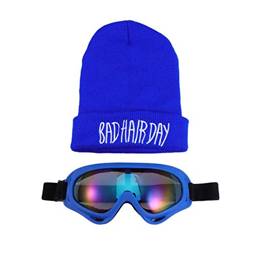 BESTOYARD Winter Baby Warm Funny Goggle Beanie Knitted Woolly Ski Hats Windproof with Removable Eyeglass Hat ()