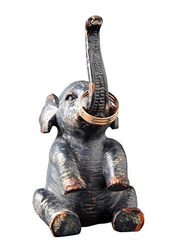 Antique Elephant - Creative Co-op DA3204 Pewter Elephant Ring Holder