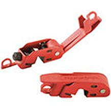 """Master Lock 493B Grip Tight Lockout for 120 and 240V Circuit Breakers, 5"""" x 2"""" x 0"""" 5, Red, 5"""" x 2"""" x 0"""" 5"""