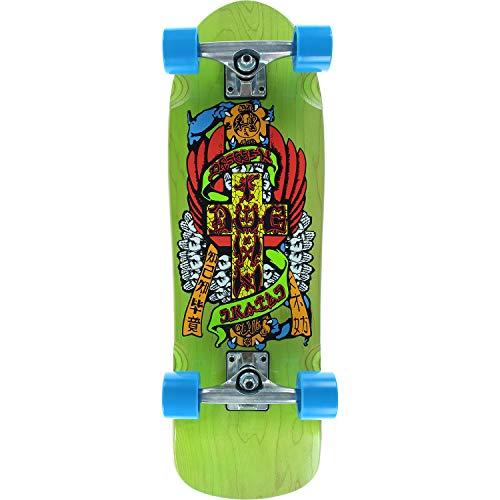 Dogtown Skateboards Eric Dressen Mini Hands Transparent Green Cruiser Complete Skateboard - 8.6