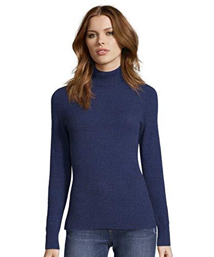 Cynthia Vincent Cashmere Turtleneck Sweater Medieval Medium