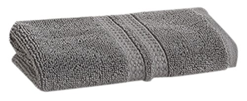 LOFT by Loftex 91017 Essentials Solid Washcloth, Charcoal, 13
