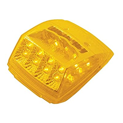 United Pacific 17 Led Reflector Square Cab Light - Amber Led/Amber Lens: Automotive