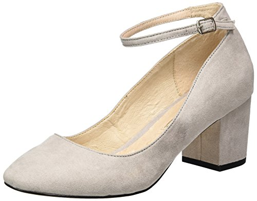 Buffalo Damen 15p54-1 Imi Suède Pumps Grau (grey 17)