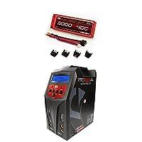 Venom 40C 2S 5000mAh 7.4 Hard Case LiPo Battery ROAR Approved with UNI Plug and Venom Pro Duo 80W X2 Dual AC/DC 7A LiPo & NiMH RC Battery Balance Charger Money Saving Combo